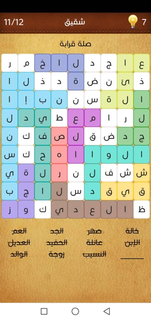 صلة قرابة وصلات كلمة السر المجموعة الرابعه عشر المرحلة السادسة خطوات محلوله
